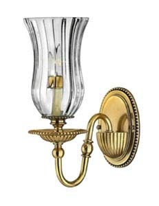 Hinkley 4640BB Traditional One Light Wall Sconce from Cambridge collection in Brassfinish,
