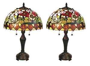 Tiffany Style Stained Glass Poppies Table Lamp Shade - Copper Foil Shade