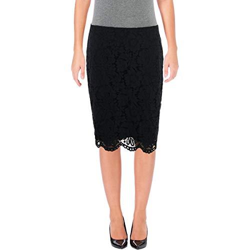 Lauren Ralph Lauren Womens Floral Lace Knee-Length Pencil Skirt Navy 10 -