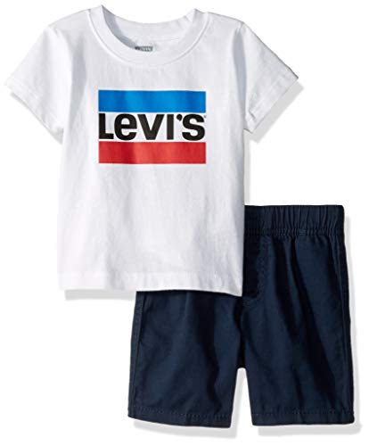 Levis Baby Boys Graphic T-Shirt and Shorts 2-Piece Outfit Set