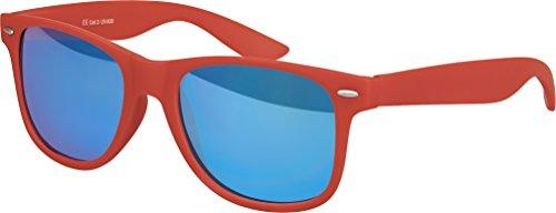 au Charnière verspiegelt choix Balinco Rétro à Dunkelrot couleurs Blau Lunettes mat qualité plusieurs Lunettes 101 Modèles Unisexe ressort haute Nerd Gomme Vintage Soleil De fq7Hg