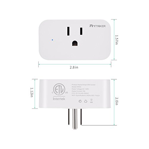 Mini Wifi Smart Plug 4 Pack - Voice Control Through Alexa and Google Assistant,Control Your Home Device from Anywhere,Supports Timing Switch,DIY Scenes,Device Sharing. by Anmaker (Image #6)