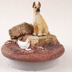 Conversation Concepts Miniature Great Dane Fawn Candle Topper Tiny One ''A Day on the Farm''