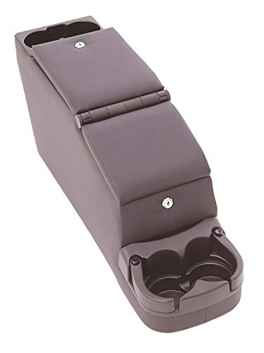 RAMPAGE PRODUCTS 31615 Deluxe Locking Center Console with Adjustable Cup Holders for 1976-1995 Jeep CJ & Wrangler YJ, Black Denim ()
