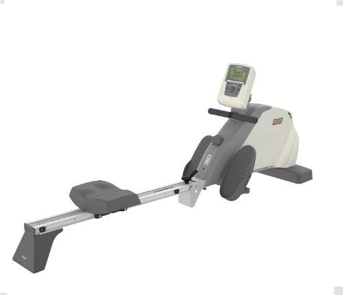 Tunturi R25 Rower - White/Grey, 200L x 54W x 80H Cm
