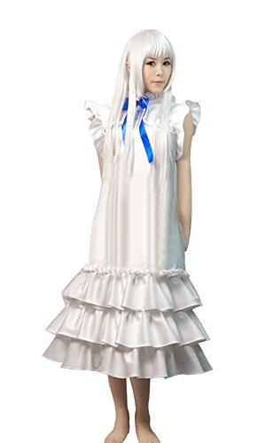 Meiko Cosplay Costume (Mtxc Anohana: The Flower We Saw That Day Cosplay Costume Meiko Honma XS White)