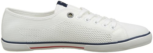 Knit Sneakers Blanc Pepe Basses Homme Bleu Aberman white Jeans PwtxqE4