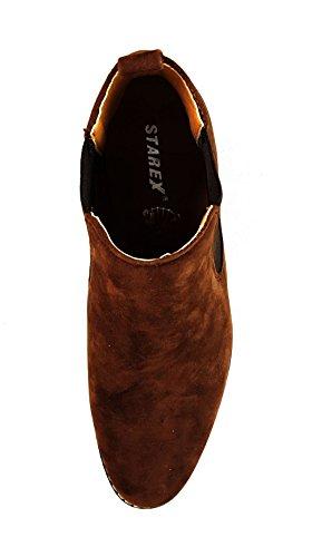 scamosciata Brown casual da UK9 EUR 43 in camoscio uomo alla stile italiano caviglia pelle Chelsea Brown Stivali modello 7BAqTxwwH