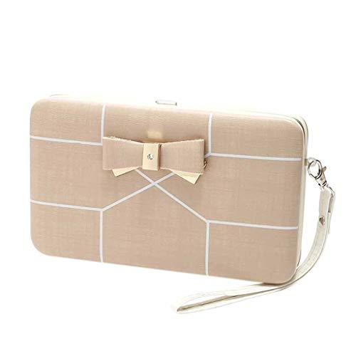 ets for Women Stripe Print Card Holder Mobile Phone Bag Ladies Purse Fashion Square Wallet(Beige) ()