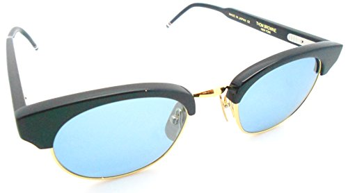 Thom Browne TB-702D Navy 18k gold Sunglasses with Blue - Thom Browne Sunglasses Women