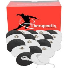 Therapeutix | TENS Snap-On Electrode Pads | Reusable | Quick & Easy | No Gel Required | Small | 20 Pads