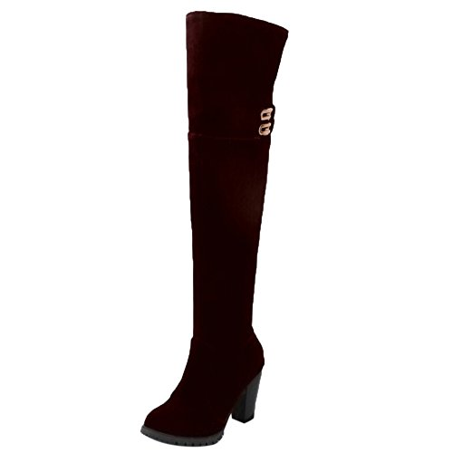 Zipper Boots Fashion Women COOLCEPT Brown qpRSnF