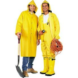 Comfitwear RC300-L PVC Knee Length Raincoat, Large, Yellow - Pet ...
