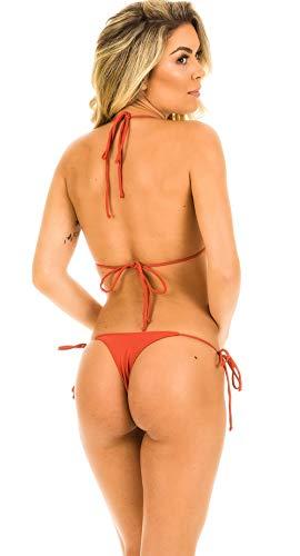 993f6908f0 Coqueta Swimwear Women Brazilian Sexy Bikini Teeny Thong Triangle top Set  Bottom