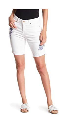 Vintage America Blues Petites' Boho Embroidered Bermuda Shorts 8P