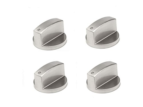 Kingzhuo 4 Pc 6Mm 90  Universal Stainless Steel Round Gas Stove Knobs Cooker Oven Hob Control Switch