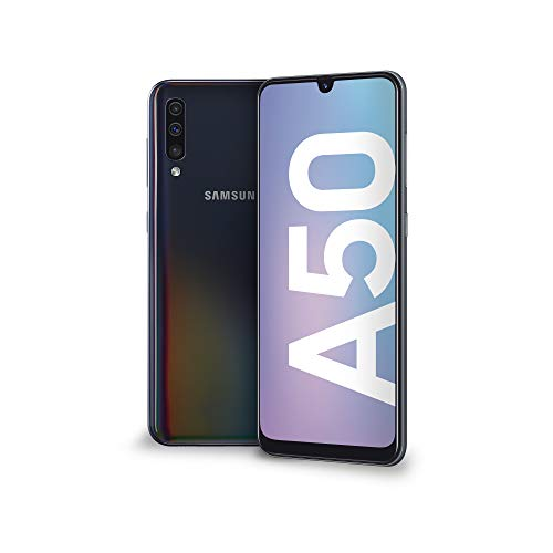 Samsung Galaxy A50 Display 6.4″, 128 GB Espandibili, RAM 4 GB, Batteria 4000 mAh, 4G, Dual SIM Smartphone, Android 9 Pie, (2019) [Versione Italiana], Nero.