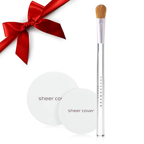 Sheer Cover Studio – Sun Kissed Bronzing Minerals – Contour and Highlight – Glowing Pressed Powder – with FREE Blush Brush – 2.5 Grams