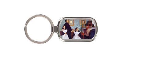 Portait Of The Bellelli Family By Edgar Degas Key Chain
