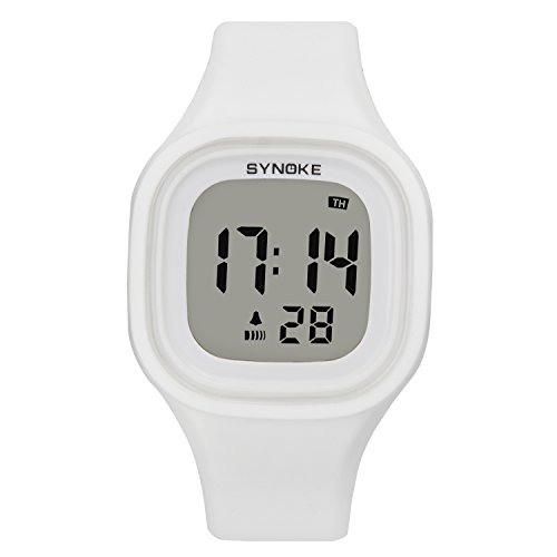 Digital Watch Girl White Sport Kids Outdoor Electrical Children Watches by SHELI
