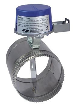 Field Controls GVD-5PL Vent Damper, 5'' Pipe Size, 15/16'' Clearance, 4-13/16'' Exposed Pipe, 6-1/16'' Length, 9-7/8'' Height