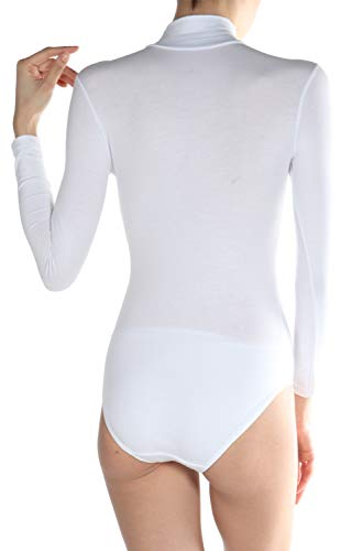miorre Damen Langarm-Body aus Modal/Baumwolle mit Rollkragen