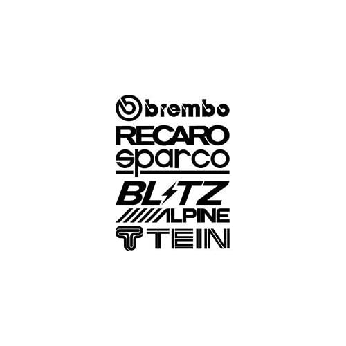 2 Sets (12pcs) Sponsor Racing Stickers Decals Aufkleber Logo Funny Car Window Bumper JDM Vinyl Decal Sticker Racing Tuning Drifting