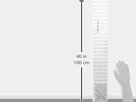OLipfa 16318 Ruler with Lip Edge 3 x 18-Inch