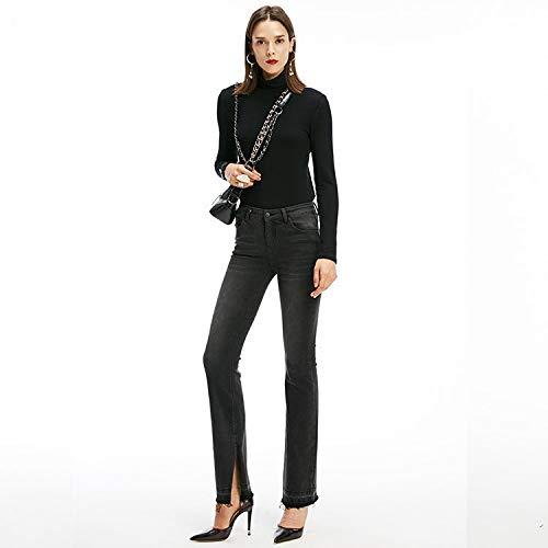 Tendenza Jeans Pantaloni Mvguihzpo Nuovi L Moda Slim Divisi Donna E Nero Vita Jeans Alta M vtqtwxgaI