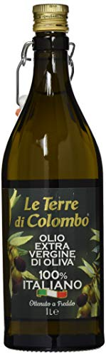 Le Terre di Colombo – 100% Italian Extra Virgin Olive Oil – Ribbed Bottle with Mechanical Cap – 1 L