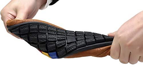 Piselli WLFHM Uomo Scarpe da Comode Scarpe Brown1 Guida 55CExw