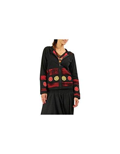 Aler Simplement - Manga larga con capucha de algodón de la mujer sólo tienes que ir SW527 Multicolor