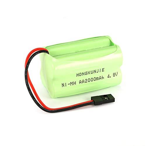 (Contifan 4S 4.8V 2000mAh NiMH Square Receiver RX Battery Pack for RC Cars Futaba Hitec)