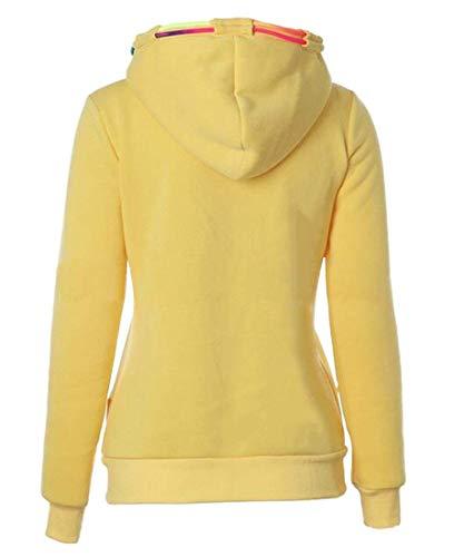 A Donna Con Starsace Lunghe Maniche Felpa Yellow Da Cappuccio wqzq5xXvI