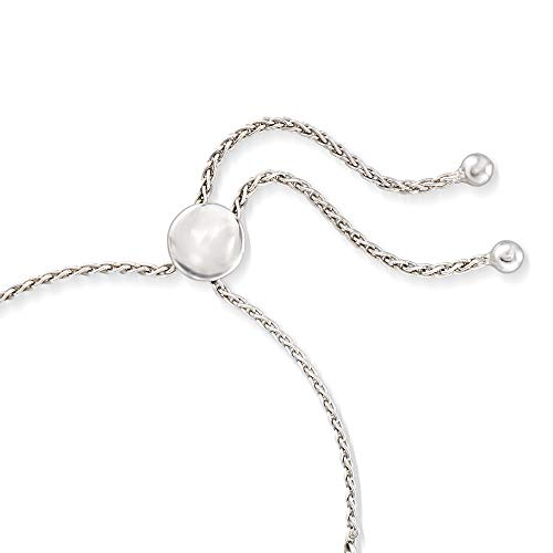 Ross-Simons 0.25 ct. t.w. Diamond and Sterling Silver Patterned Bolo Bracelet by Ross-Simons (Image #2)