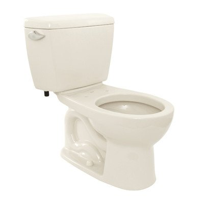 12 Drake Round Bowl (Drake 1.6 GPF Round 2 Piece Toilet with E-Max Flush System Toilet Finish: Colonial White, Trip Lever Orientation: Left-Hand)