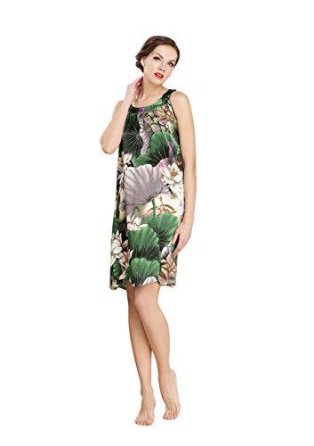 AORUI - Camisón - para mujer Multicolore - flower4