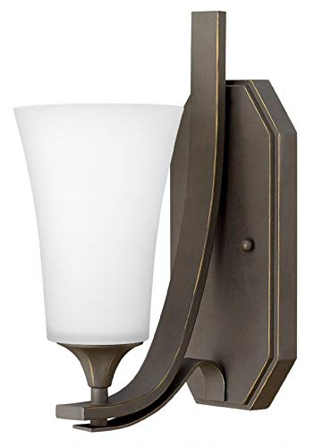 Hinkley 4630OZ-WH Brantley Wall Sconce, 1-Light 100 Watts, Oil Rubbed Bronze