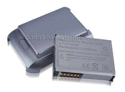 Fosmon Extended Battery 2100 mah for Palm Treo 680, Treo 680v, Treo 720, Treo 750v (with battery door) - 680 Battery Door