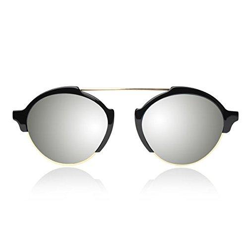 Illesteva Milan III Black with Silver Mirrored - Milan Sunglasses