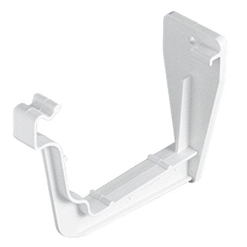 Pack of 3 x FreeFlow FRS609W 114mm Square Gutter Fascia Bracket White