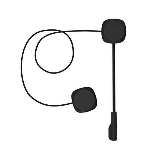 3T6B Motorcycle Helmet Bluetooth 5.0 Earphone Bicycle Wireless Headset Stereo Universal Headphone with Handsfree Microphone Safe Riding for Call Control Music Motorcycle Helmet Earphone