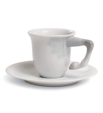 EQUUS COFFEE CUP WITH SAUCER Lladro Porcelain by Lladro Porcelain