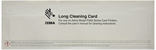 Zebracard 105912G-707 Cleaning Card Kit, 50 Large