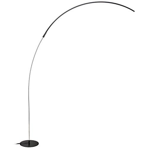 brightech sparq led arc floor lamp curved minimalist lighting design warm white light black
