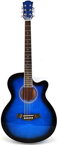 ギター 41インチの明るいフル・サイプレス初心者はアコースティックギターマット標準機器アコースティックギター入門します 楽器アクセサリー (Color : Blue, Size : 41 inches)