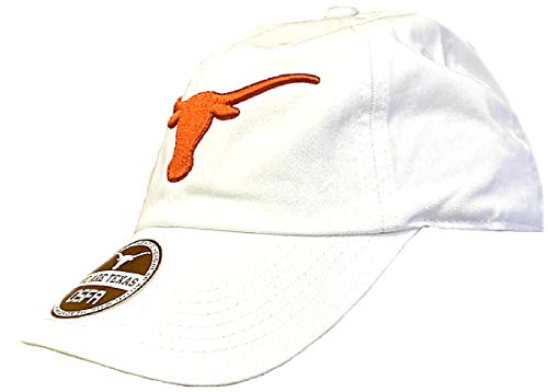 (289c apparel Texas Longhorns White Stemmons Low Profile Slouch Fit Adjustable Cap)