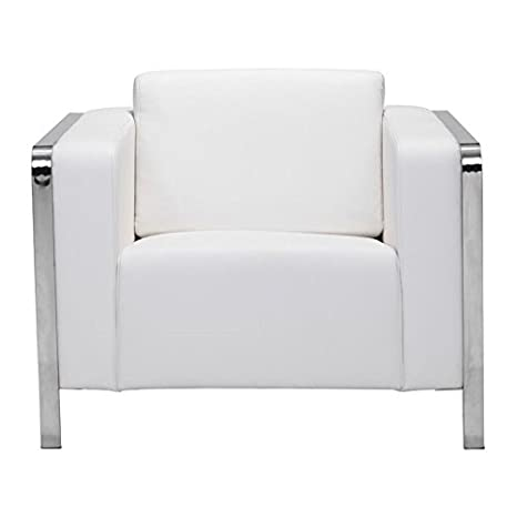 Amazon.com: Brika Home Faux Leather Armchair in White ...