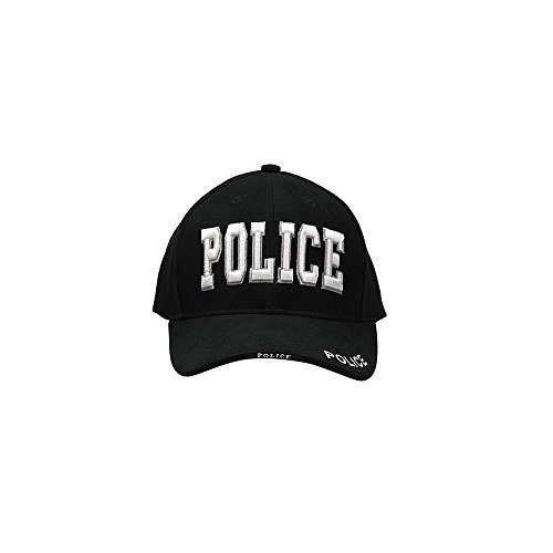 Police Low Profile Cap (Mens Baseball Cap - Police Deluxe Low Profile, Black by Rothco)