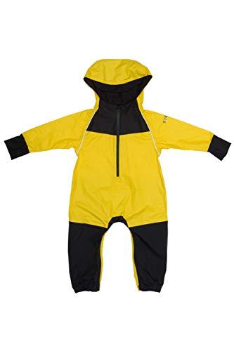 Stonz Rain Suit Muddy Buddy Waterproof Coverall for Baby Toddler Girl Boy Rainsuit Rain Coat, Yellow, 2T